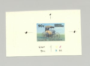 Grenada Grenadines #883 Automobiles  1v. imperf chromalin proof