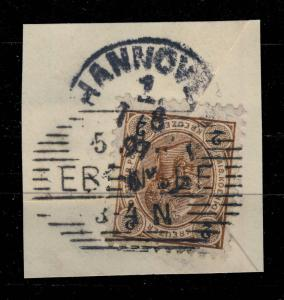 AUTRICHE / AUSTRIA 1897  EBENSEE (Schraffen-Stempel Kl.973e) /Mi.51 p.10 1/2