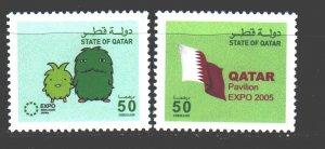 Qatar. 2005. 1270-71. Expo 2005 Emblem. MNH.