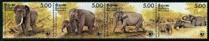 HERRICKSTAMP SRI LANKA Sc.# 803 WWF Elephant Strip