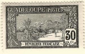 Guadeloupe (Sc #67) F-VF Mint OG hr..French Colonies are Hot!