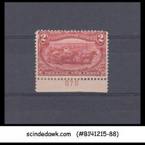 USA - 1898 2c copper red SCOTT#286 - 1V - MINT HINGED