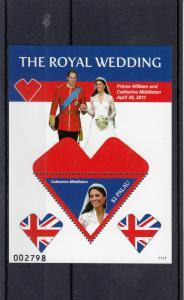 Palau 2011 MNH Royal Wedding 1v S/S I Prince William Kate Middleton Catherine