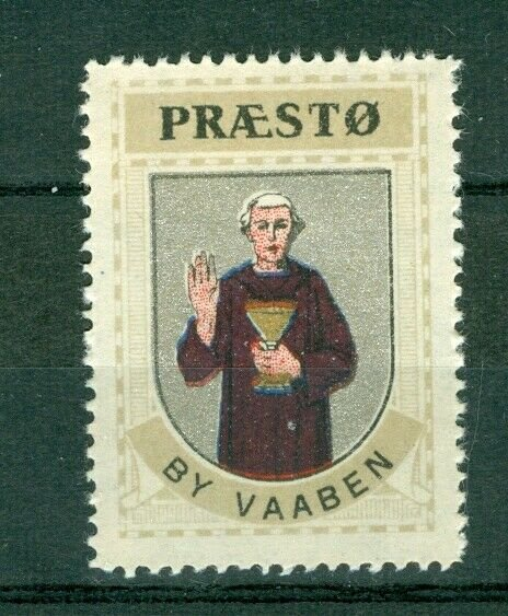 Denmark. Poster Stamp 1940/42. Mnh. Town: Praesto. Coats Of Arms. Monk.