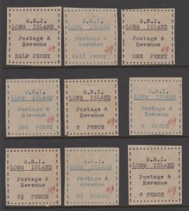 Long Island Rare Type-set Issues but probably forgeries