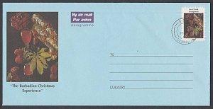 BARBADOS 2002 80c Christmas pictorial aerogramme - GPO cds..................K163