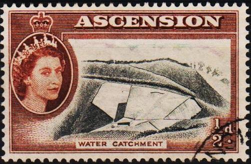 Ascension. 1956 1/2d S.G.57 Fine Used