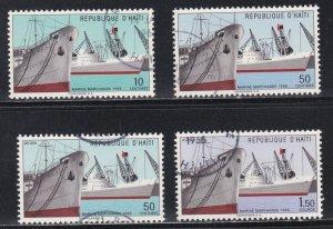 Haiti # 524-525, C236-237, Merchant Marine, Used, 1/2 Cat.