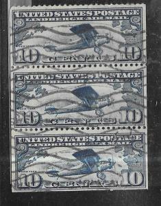 US #C10a Spirit of St. Louis (U) booklet pane of 3  CV$65.00