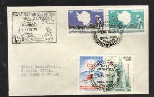 1975 Chile cover Bernando O'Higgins Antarctic Army Base #415-16 #434 #454 Signed