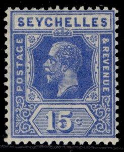 SEYCHELLES GV SG110, 15c bright blue, M MINT.