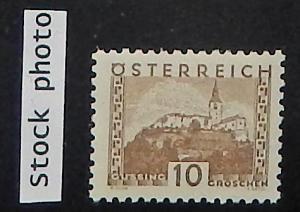 Austria 340. 1932 10g Olive brown, small format, NH