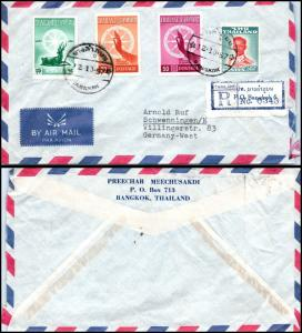 Goldpath: Thailand Air Mail 1957, to West Germany    _CV22_P14