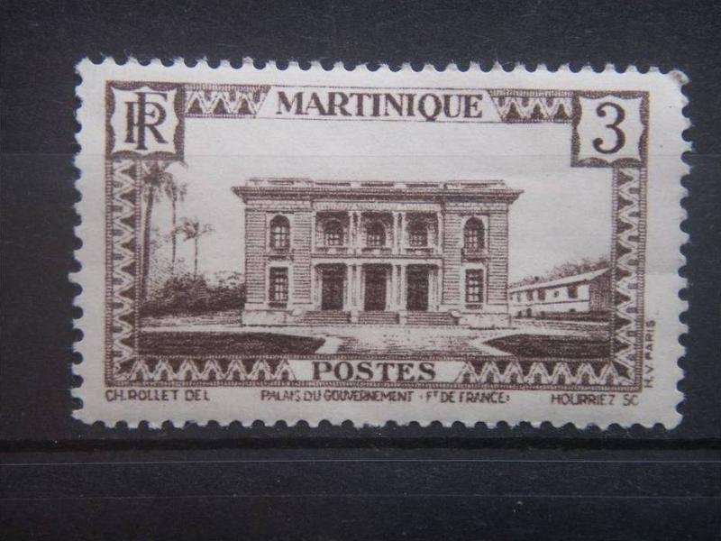 MARTINIQUE, 1940, used 3c, Government Palace Scott 135