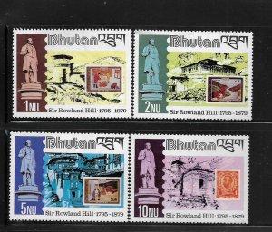 BHUTAN, 305-308, MNH, SIR ROWLAND HILL 1795-1879