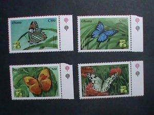 GHANA 1999 SC#2094-7 COLORFUL BEAUTIFUL LOVELY BUTTERFLY MNH SET VERY FINE