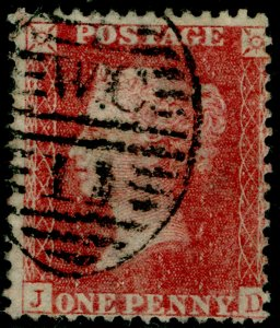 SG40, 1d rose-red PLATE 47, LC14, FINE USED. Cat £18. JD
