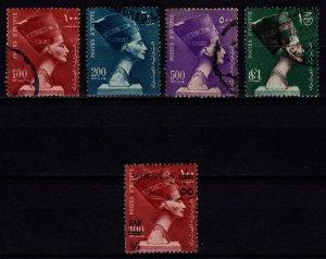Egypt 1953 high value Definitives & 1959 Optd. UAR, Part Set [Used]