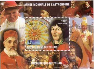 Chad 2009 Copernicus/International Year Astronomy/Pope John-Paul II  S/S PERF.
