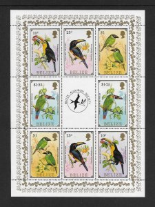 BIRDS - BELIZE #843-50  AUDUBON SOCIETY  MNH