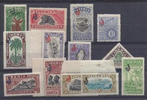Liberia, O98-O110, Various Designs Official Singles,**MNH**