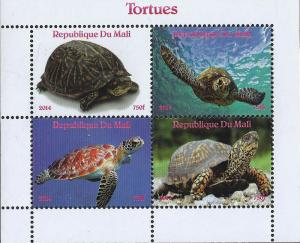 Mali MNH S/S 440 Turtles 2014