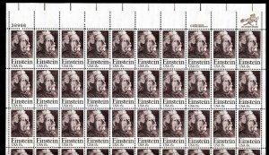 1774 Einstein Sheet of 50 15¢ Stamps Complete 1979