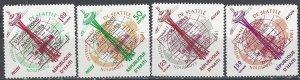 Haiti  503-4, C206-7  MNH  Peaceful Uses of Space OVPTS