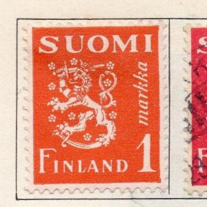 Finland 1930 Early Issue Fine Mint Hinged 1m. 113592