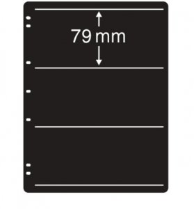 Prinz System Stock Sheets Single Sided 7 Hole Punch - 3 Strip Pocket  (10 pages)