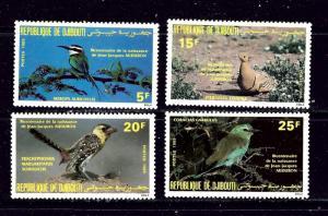Djibouti 590-93 MNH 1985 Birds  #2