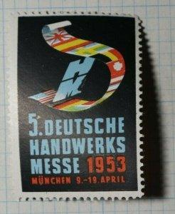 German Craft Fair Munchen 1953 Exposition Poster Stamp Ads
