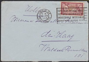 FRANCE 1925 1f on cover - Paris Modern Industry / art slogan cancel.........K323