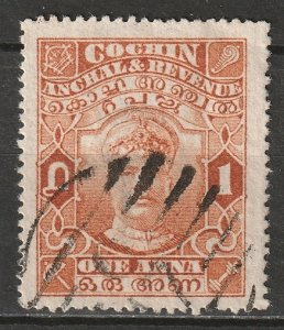 India Cochin 1918 Sc 29 used