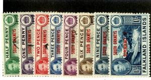 FALKLAND ISLAND SO. ORKNEYS 4L1-8 MNH SCV 25.35 BIN $12.50