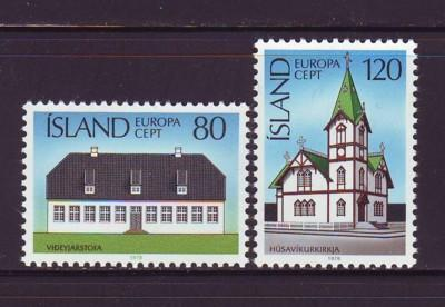Iceland Sc 506-7 1978 Europa stamp set mint NH