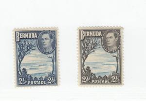 BERMUDA #s 120,120a,121,121a,121d,122 VF-MH KGV1 ISSUES TO 1sh CAT VALUE $35+