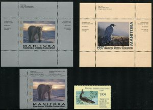 Canada MANITOBA Wildlife Federation Stamps Label Sheet Collection Mint NH