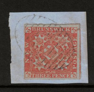 New Brunswick #1 Used Fine On Piece With Ideal Cancel
