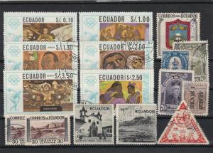 ecuador stamps ref 16725
