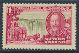 Southern  Rhodesia  SG 31 SC# 33  MH  Silver Jubilee  see scans  and detail