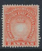 British East Africa Company  SG 6  SC#16  Mint Hinged - perf 14 -  see details