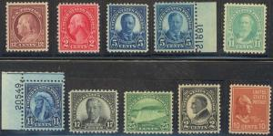10 DIFF USA STAMPS ALL SELECT CENTERING & MINT OG NH