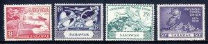 Sarawak - Scott #176-179 - MNH - Pulled perf #176 - SCV $9.00