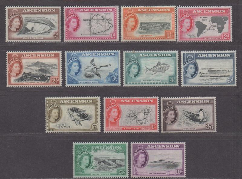 **Ascension, SC# 62-74 MH, VF Complete Set, CV $143.20