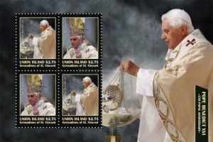 SW516 - Union Island  2010 -  5th Papal Anniversary of Pope Benedict XVI  - MNH