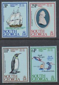 South Georgia 52-55 Captain Cook MNH VF