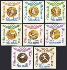Romania 1691-1698 imperf.MNH.Michel 2353-2360. Olympics,Romanian Gold Medals.