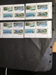 Canada #USC#1320a Mint 1991 Small Craft MS Plate Blocks VF-NH Cat. $18.00