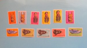 Guinea - 453//64, Short Set 11 of 12 Stamps. Masks, SCV - $5.00